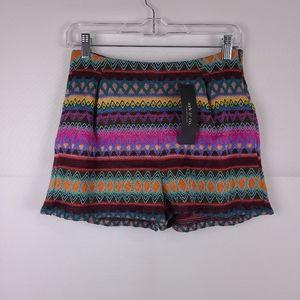 Ark & Co Boho Knit High Rise Shorts Size Small